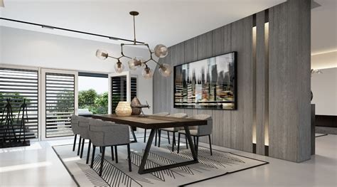 Modern Dining Room Chairs The Fabulous Grey Wall Color
