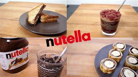 5 recettes nutella rapide et facile