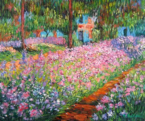 Garden Scenery Oil Painting,artist S Garden At Giverny By