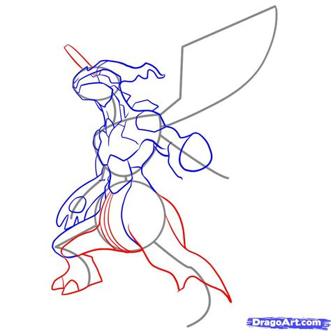 How To Draw Zekrom, Step By Step, Pokemon Characters