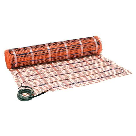 shop watts suntouch 30 in x 120 in orange mesh blue wire 120 volt floor warming mat at lowes