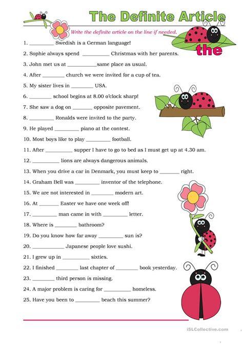 All Worksheets » Indefinite And Definite Articles Worksheets  Printable Worksheets Guide For