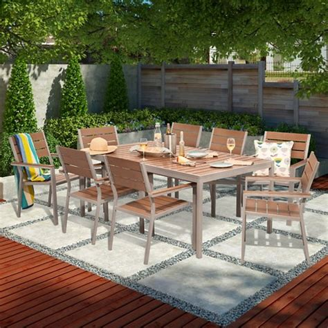 bryant 6 person faux wood patio dining set w 2 target
