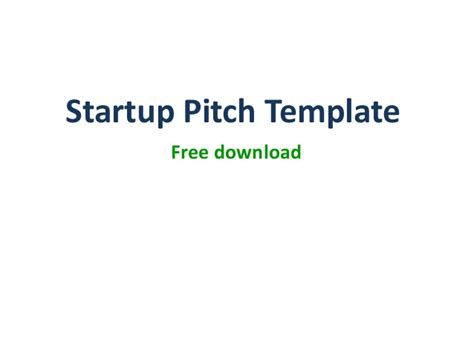 product startup pitch ppt template