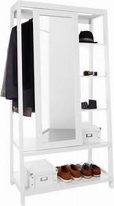 Kleiderstange Mit Ablage : home affaire garderobe mit spiegel schiebet r otto ~ Markanthonyermac.com Haus und Dekorationen