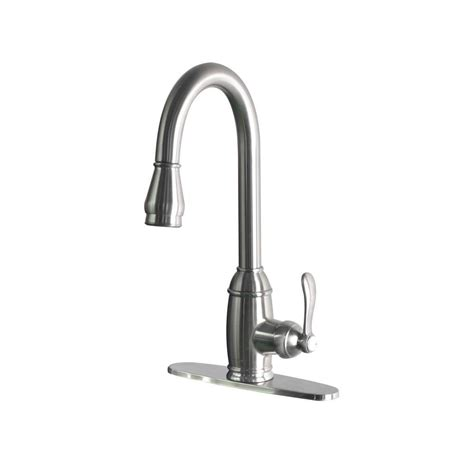 foret single handle pull sprayer kitchen faucet in stainless steel ss whus591l1 the