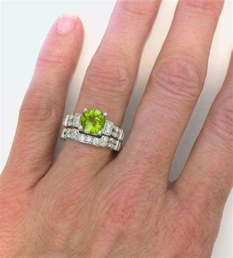 Peridot Engagement Ring In 14k White Gold With Matching. Spanish Style Wedding Rings. Blue Nile Engagement Rings. 1.26 Carat Engagement Rings. Cathedral Rings. Bridal Set White Gold Wedding Rings. Sea Glass Engagement Rings. Best Selling Wedding Rings. Swollen Rings