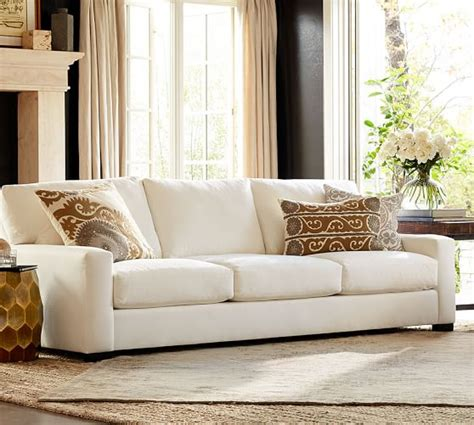 turner square arm upholstered sofa pottery barn