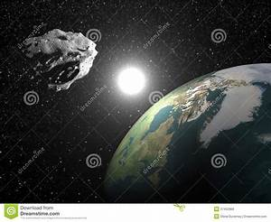 Asteroid Near Earth - 3D Render Royalty Free Stock Images ...