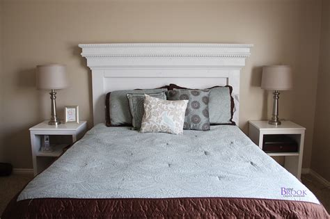 white mantel moulding headboard diy projects