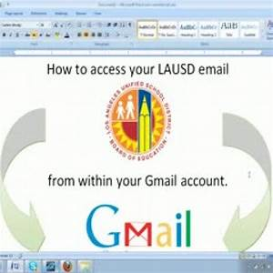 Using Gmail to access LAUSD email