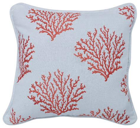 salmon colored embroidered coral pillow decorative pillows by hiend accents