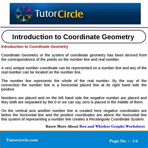 Introduction To Coordinate Geometry By Tutorcircle Team Issuu