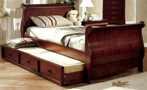 louis philippe jr cherry trundle sleigh bed