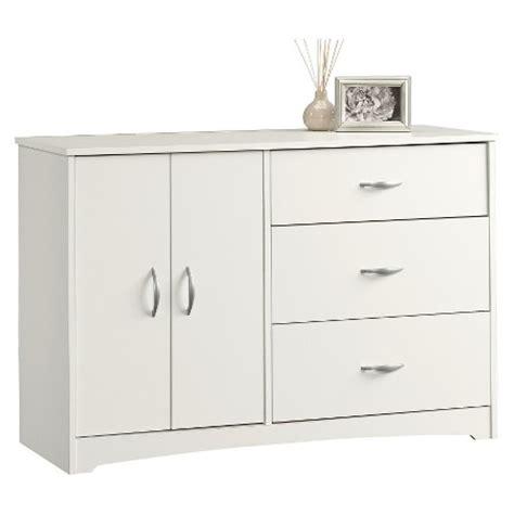 beginnings 3 drawer dresser with door adjustable