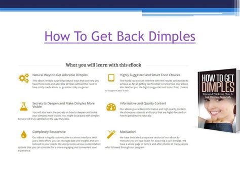 Ppt  How To Get Dimples Naturally Powerpoint Presentation