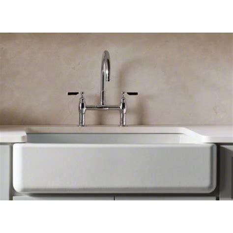 kohler k 6489 58 whitehaven 36 quot undermount enameled cast iron apron front sink ebay