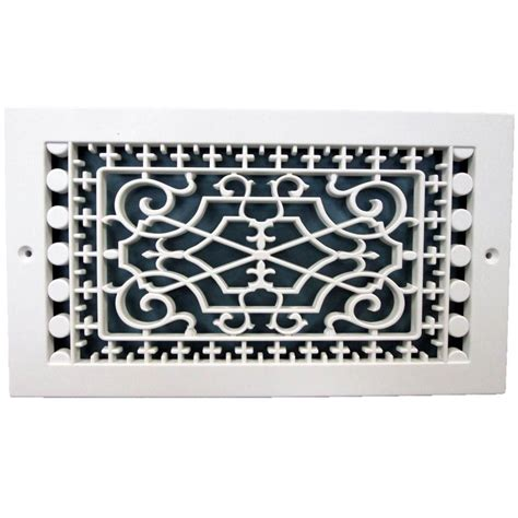 smi ventilation products base board 6 in x 10 in polymer resin decorative cold air
