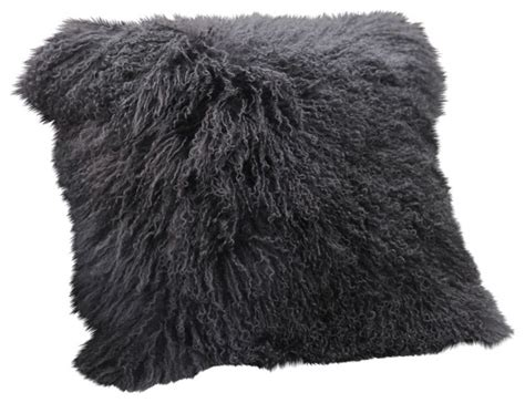 Mongolian Lamb Fur Pillow Two Person Desk Home Office Luxury Costco Theater Seating Used Desks Best Layout Diy Ethan Allen