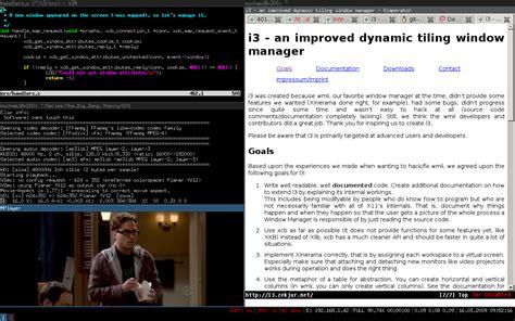 que los tiling windows managers paraiso linux