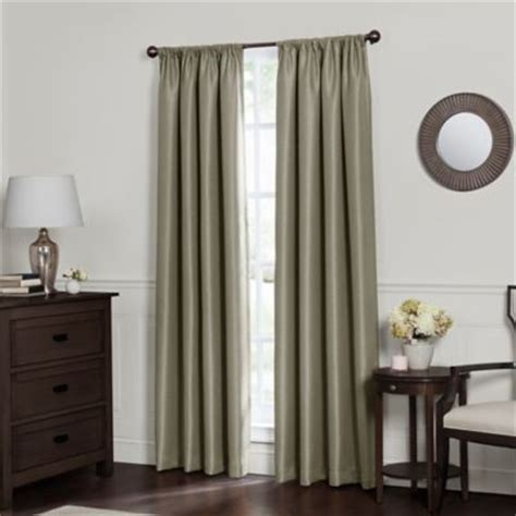 emery rod pocket insulated total blackout window curtain panel bed bath beyond