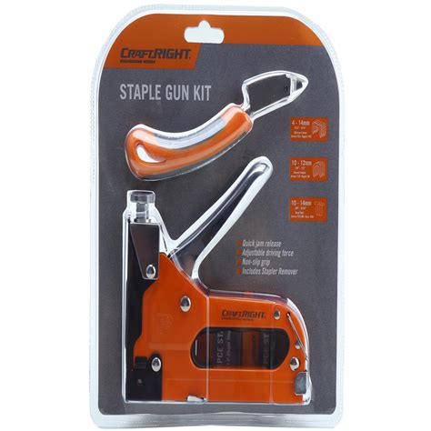 craftright staple gun with remover kit bunnings warehouse