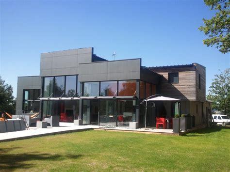 maison contemporaine maison bois ossature bois