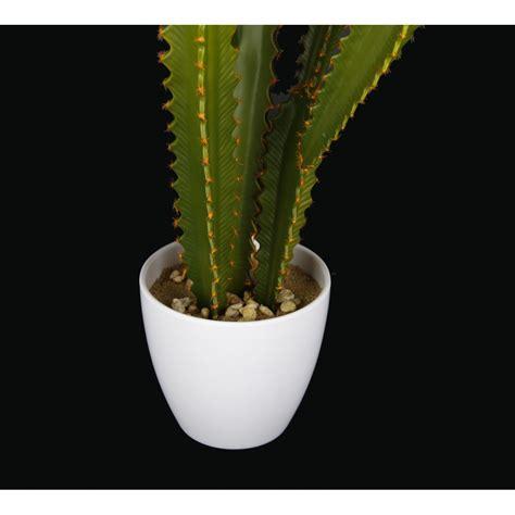 cactus chili artificiel en pot 55 cm cactus plantes grasses artificiels reflets nature lyon