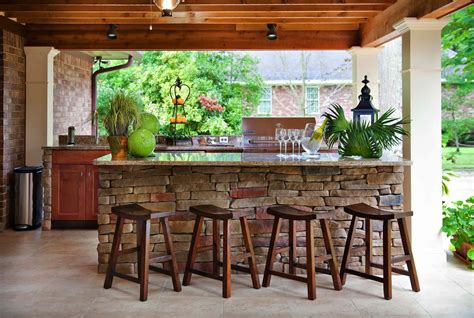 Outdoors Bar : 20+ Spectacular Outdoor Kitchens With Bars For Entertaining