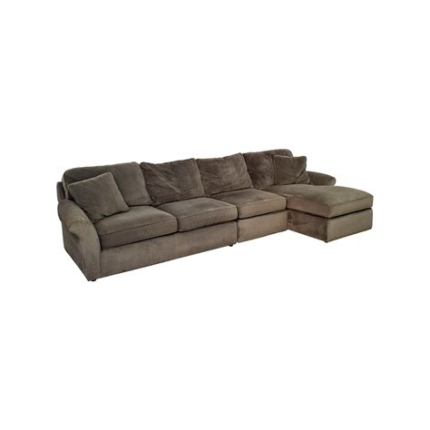Gray Corduroy Sectional Sofa by 68 Macy S Macy S Modern Concepts Charcoal Gray
