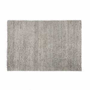 Teppich Aus Wolle : teppich aus wolle und baumwolle grau 140x200cm dry maisons du monde ~ Markanthonyermac.com Haus und Dekorationen
