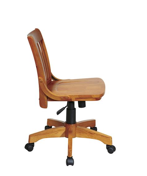 Armless Wood Bankers Chair by Office Products Home Office Deluxe Armless Wood
