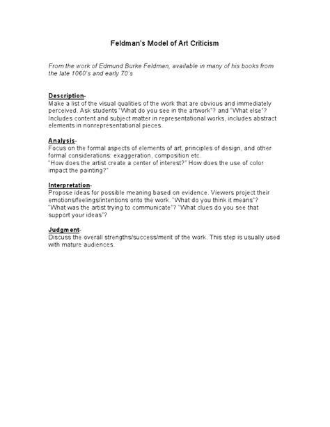 Worksheet Art Critique Worksheet Grass Fedjp Worksheet Study Site