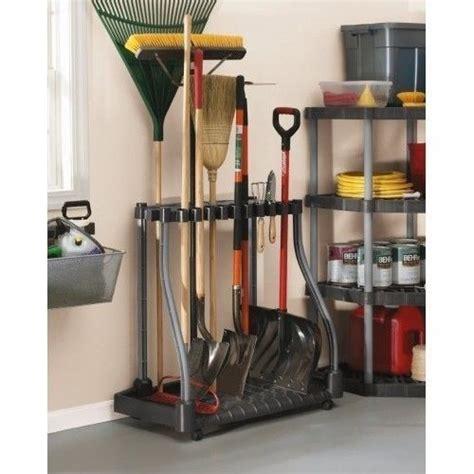 garden tool rack tower yard shed storage holder organizer rubbermaid garage what s it worth
