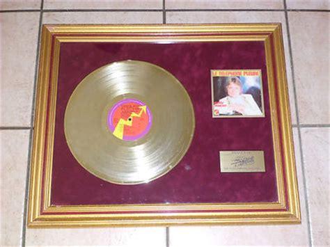 popsike claude francois disque d or 1998 le telephone pleure limite 1000 ex 33t