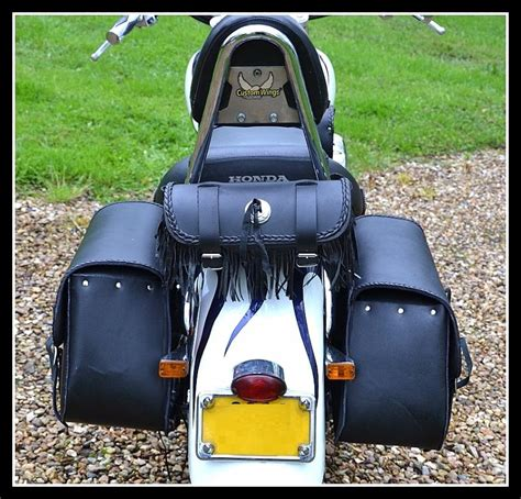 sacoche de fourche sac trousse a outil en cuir a frange moto custom trike neuf ebay