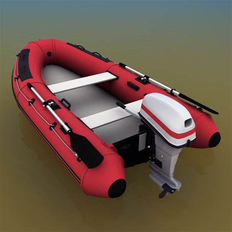 Inflatable Boat Outboard by Inflatable Boat Outboard Motor 3d Model