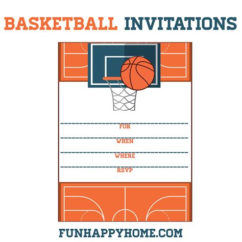 Ticket Template Gameday by Free Printable Basketball Themed Party Invitations Fun