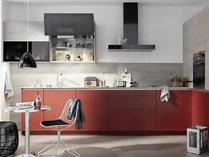 Küche Rot Streichen : colorado grifflose k che mit mattlackfronten in rot ~ Markanthonyermac.com Haus und Dekorationen
