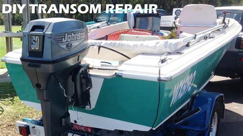 Boat Stern Repair by Boat Transom Repair Made Easy Diy Youtube