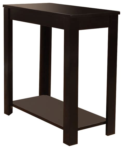 black wood rectangular shaped chairside sofa end table