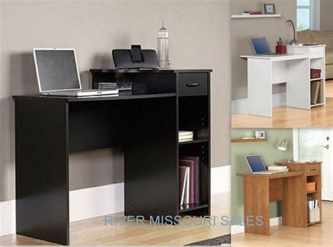 mainstays student home computer office black white desk