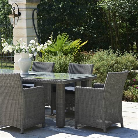 salon de jardin haussman r 233 sine tress 233 e gris chin 233 1 table 6 fauteuils leroy merlin