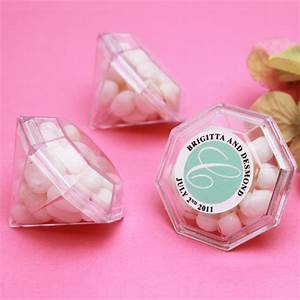 Clear Mini Diamond Favor Box - 12 pcs - Clear & Frosted ...