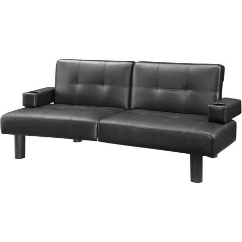 19 mainstays sofa sleeper brown faux leather hodedah sleeper sofa walmart auto value