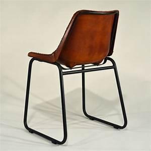 Vintage Stuhl Leder : industrial vintage leder design stuhl echter retro design klassiker lederstuhl gastrostuhl ~ Markanthonyermac.com Haus und Dekorationen