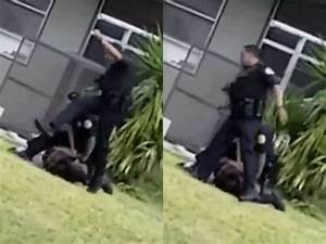 Florida police officer relieved of duty after kicking ...