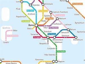 The Roads of Ancient Rome, Reimagined as a Subway Map ...