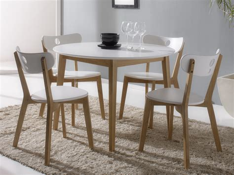ensemble table ronde et chaise salle a manger chaios