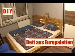 Bett Aus Europaletten Selber Bauen 140x200 : m bel aus europaletten paletten bett mit led beleuchtung diy furniture youtube ~ Markanthonyermac.com Haus und Dekorationen